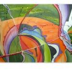 Malba na hedvábí, rozměr: 120x70 cm